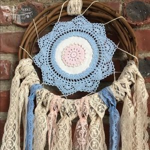 Other - Handmade | Pastel Doilie & Lace Dreamcatcher